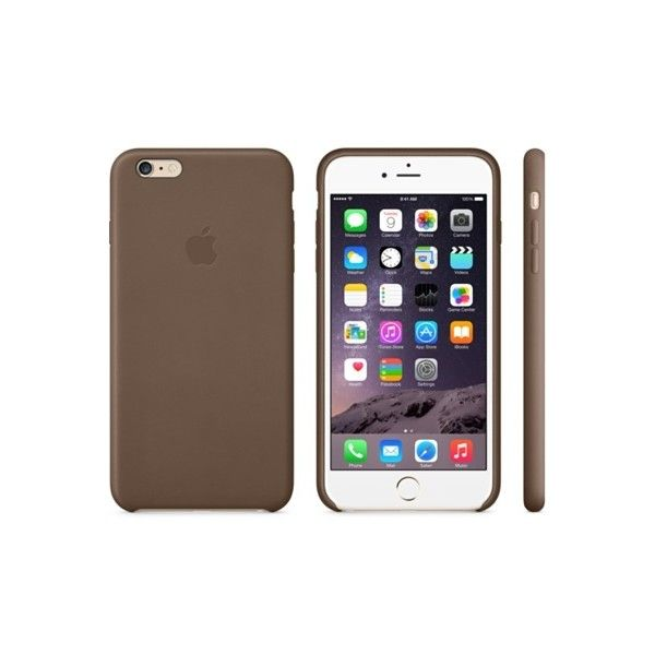 iPhone 6 Plus Leather Case Black Apple Store ($49) ❤ liked on Polyvore featuring accessories, tech accessories, electronics, misa, phone, phone case and black apple