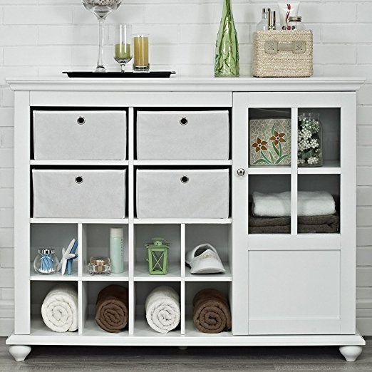 Storage Cabinet White Kitchen Dining Amazon Altra Reese Park