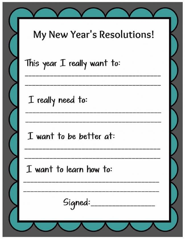 New resolution teen years