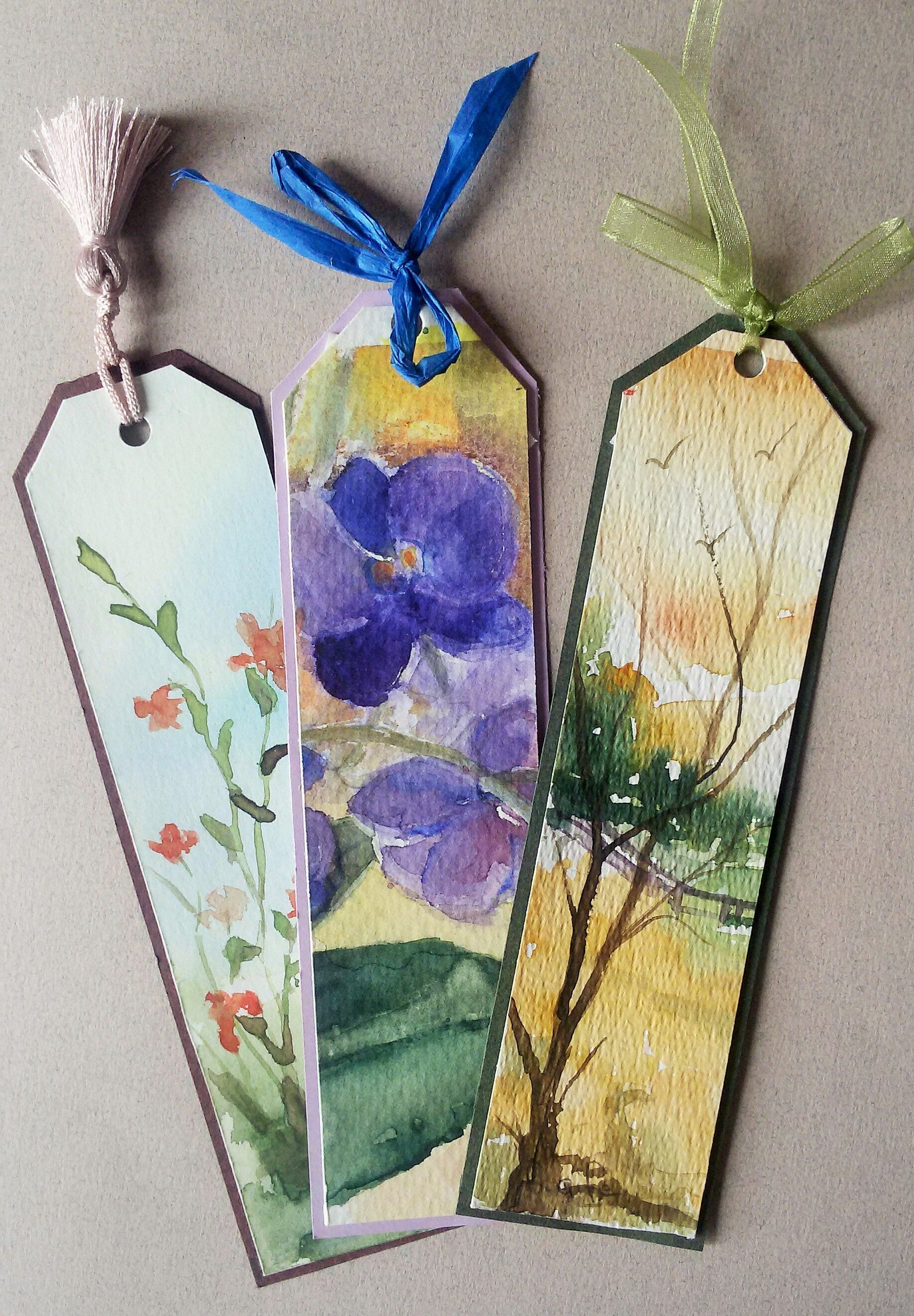 Watercolor bookmarks - Orijinal Kitap Ayra Lar Watercolor Original Handmade Hantpaint Bookmarks