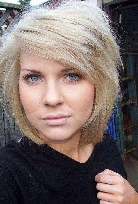 Best Hairstyle For Heavy Face : 2014 cute bob hairstyle for thick hair beauty:hair pinterest