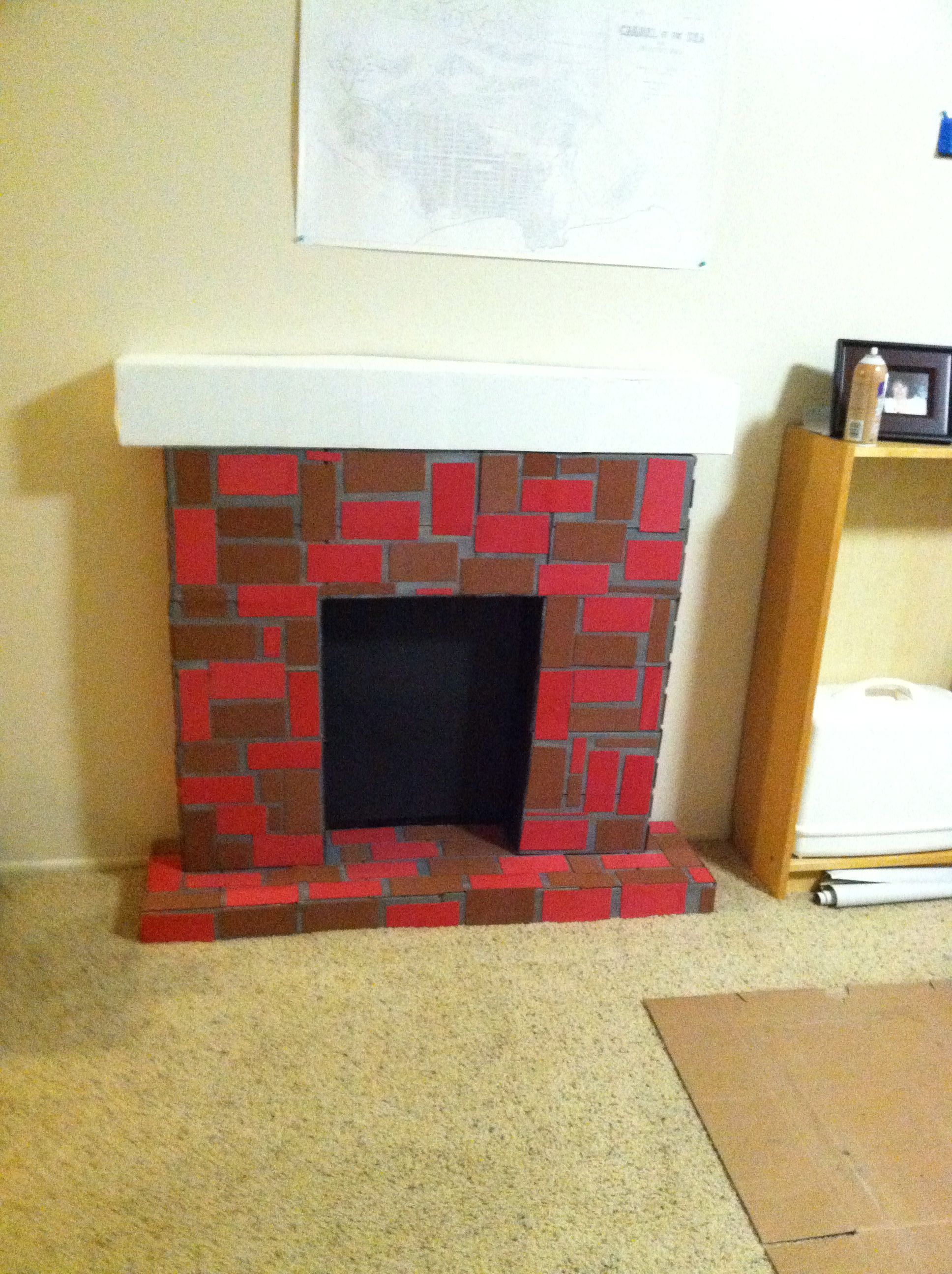 Fireplace made from cardboard boxes | Diy christmas ...