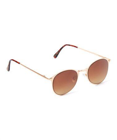 8326d199da Look what I found on  zulily! Gold   Brown Gradient Aviator Sunglasses   zulilyfinds