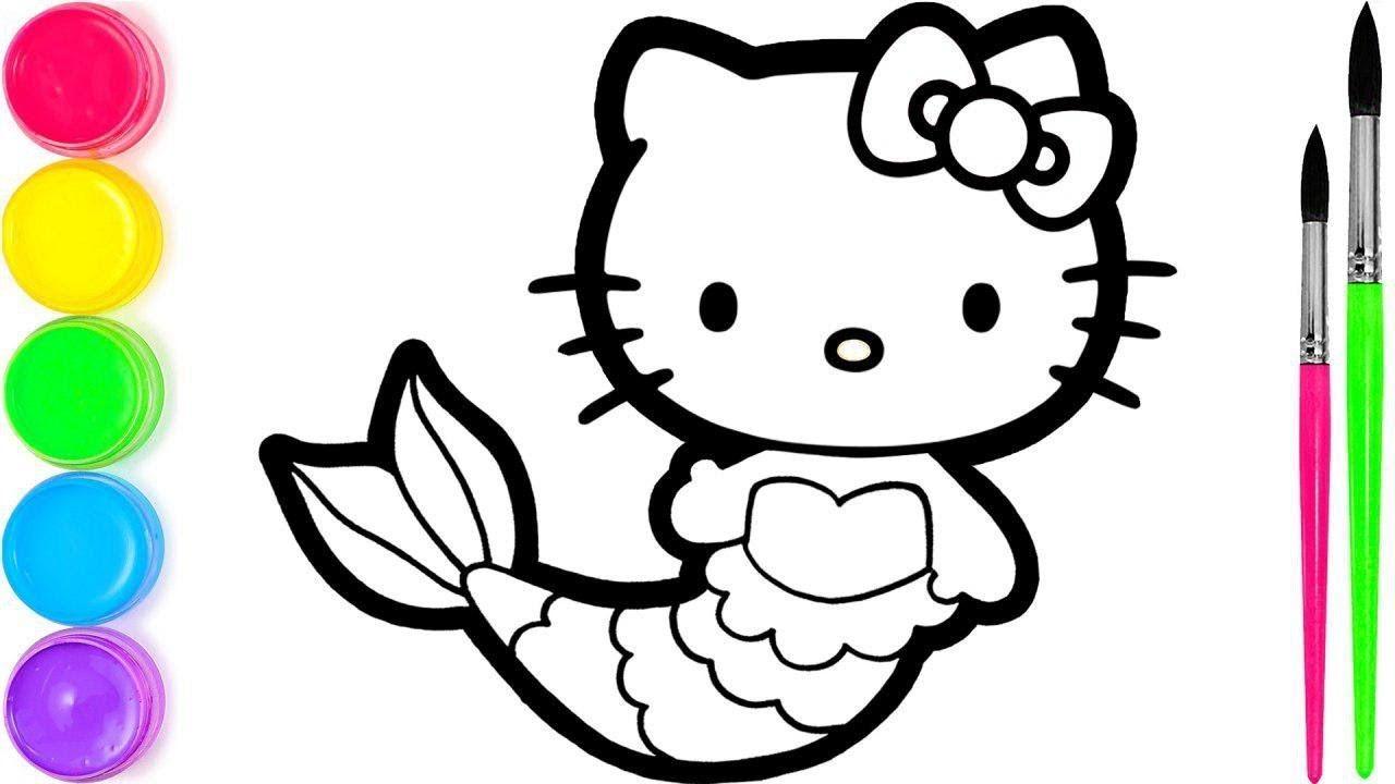 Hello Kitty I 2 Menggambar Dan Mewarnai Untuk Anak Anak With