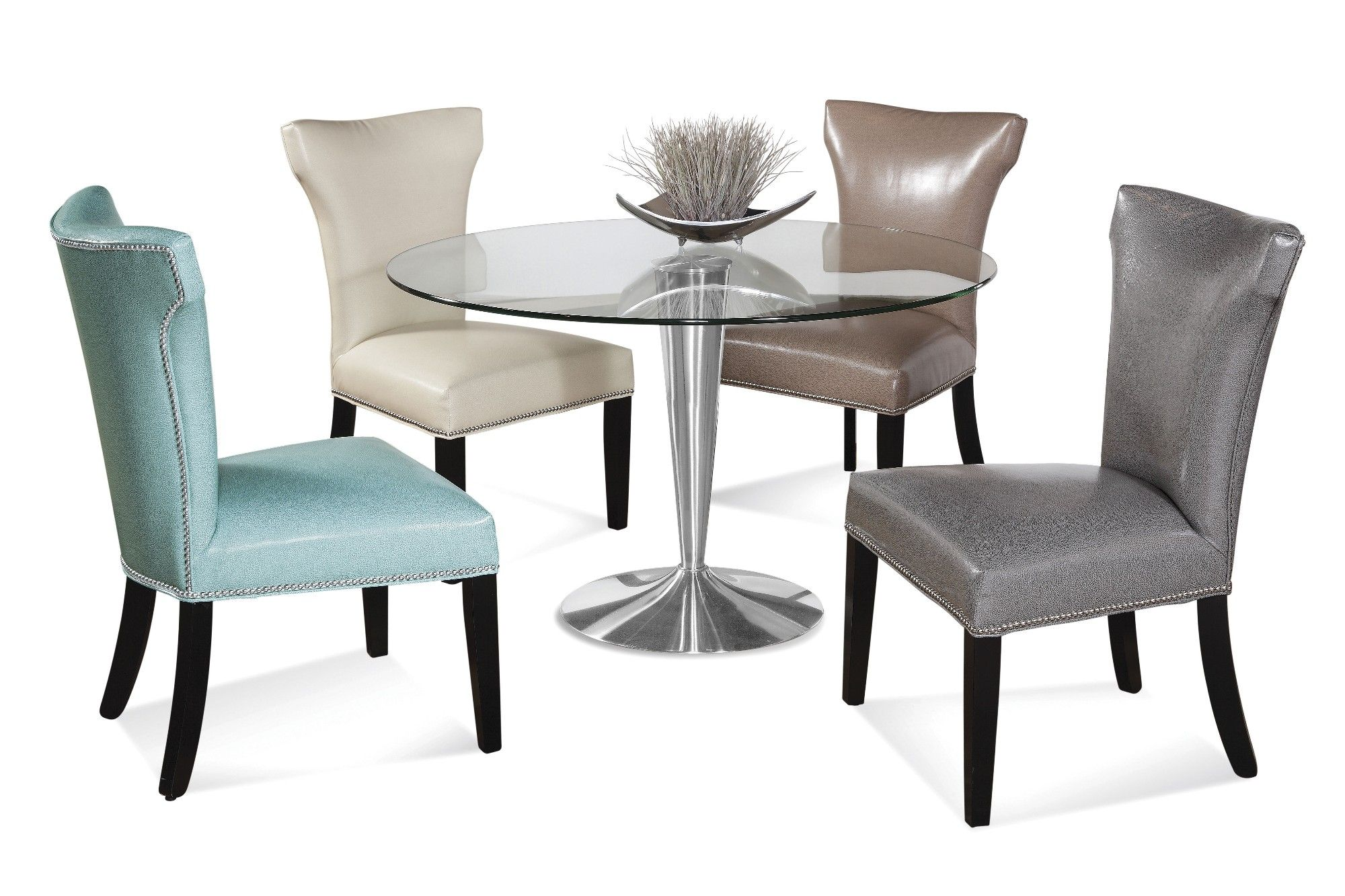 glass kitchen table and chairs  klassisches esszimmer