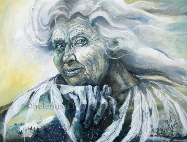 Картинка старушка зима