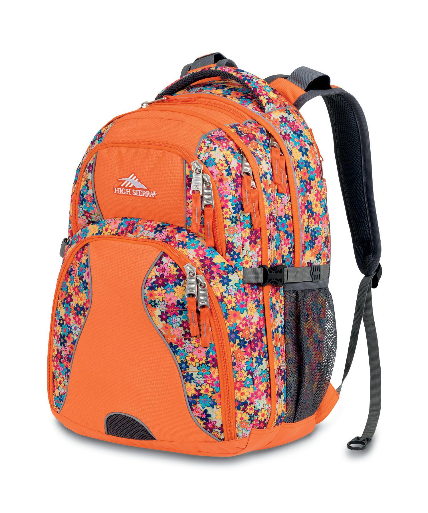 484639a99e9 High Sierra Swerve Backpack - Orange Computer Sleeve, Usb Hub, Laptop  Storage, Mp3