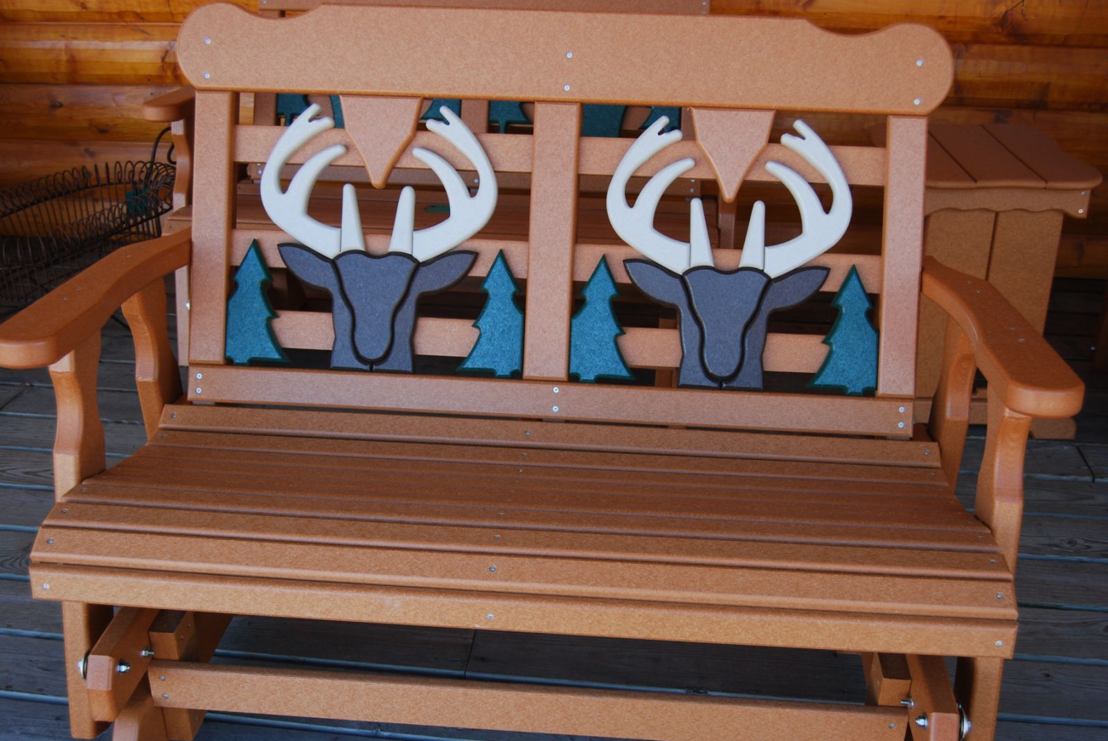 This Poly Lumber Tree 4 Deer Bench Is A Great Piece For Your Deck