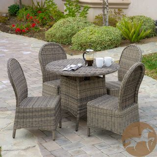Christopher Knight Home Malachi Outdoor Multi-Black Wicker 5-Piece Dining Set | Overstock.com Shopping - Big Discounts on Christopher Knight Home Dining Sets