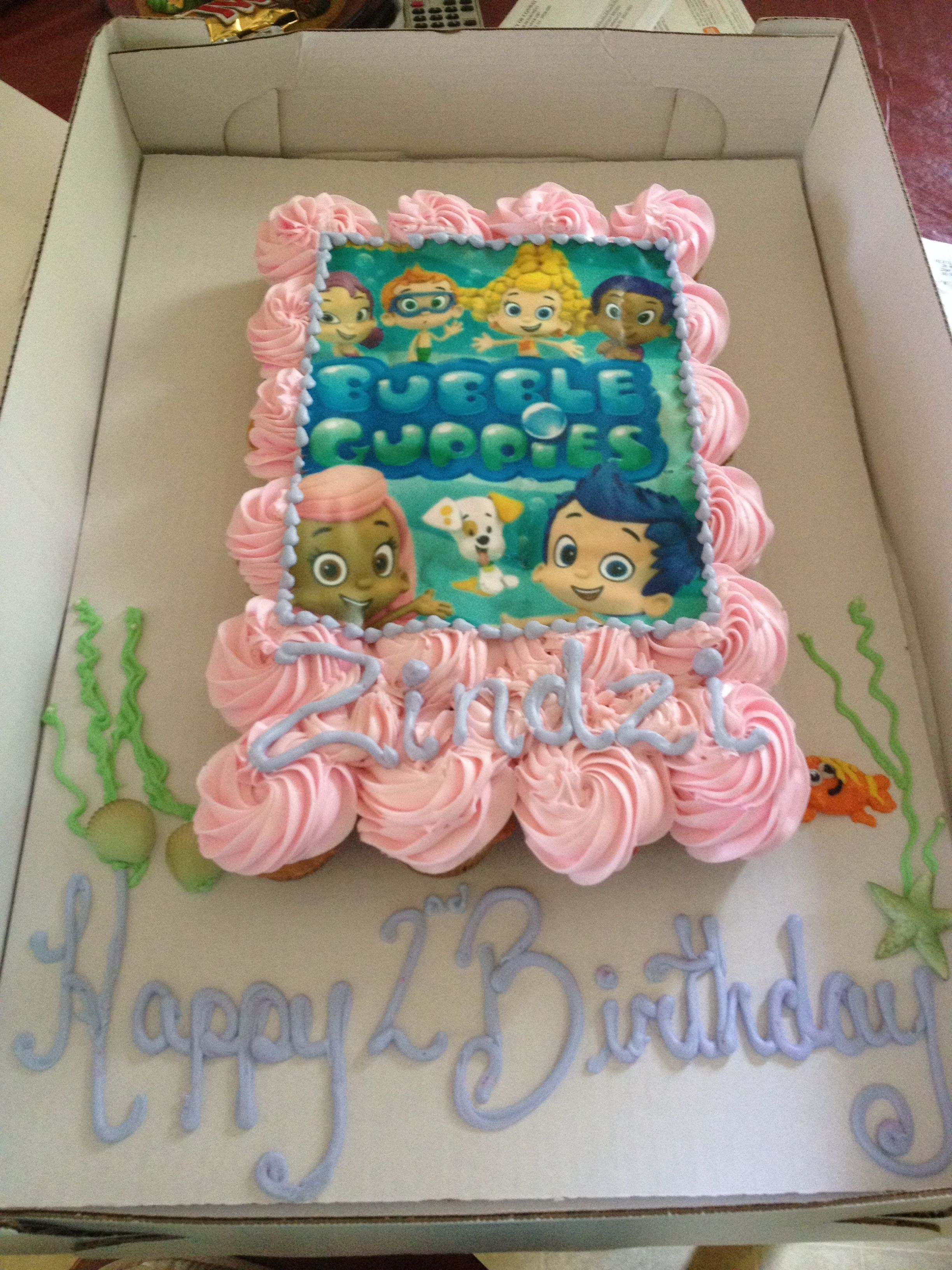 Miraculous Bubble Guppies Cupcake Cake Bubble Guppies Birthday Party Funny Birthday Cards Online Hetedamsfinfo