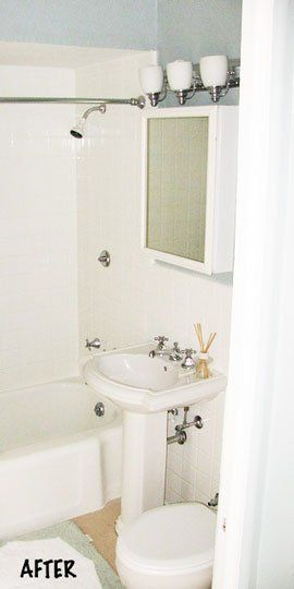 Before After A Demo Free Bathroom Renovation Bathroom Remodel Small Budget Bathroom Remodel Cost Cheap Bathroom Makeover