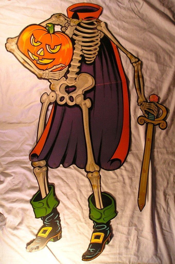 1969 Beistle Jointed Halloween Knight Hanging Decoration Size 47 Retro Halloween Vintage Halloween Images Vintage Halloween Decorations