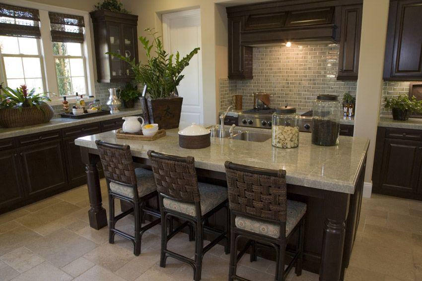 50 Highend Dark Wood Kitchens Photos  Rattan Bar Stools Dark Amazing Kitchen Island Counter Decorating Inspiration