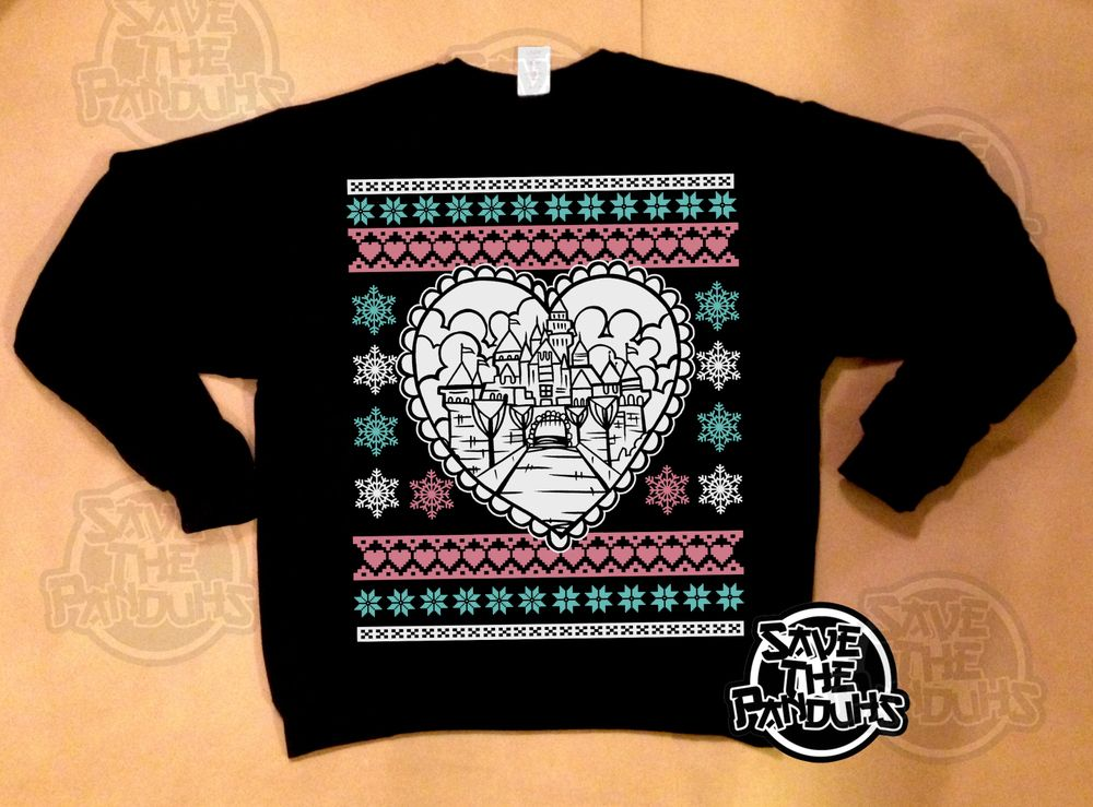 3 color silkscreen on heather gray, navy blue, black or burgundy crewneck sweaters. Printed on men's sweaters.Unisex.Comes with mini print and stickers!