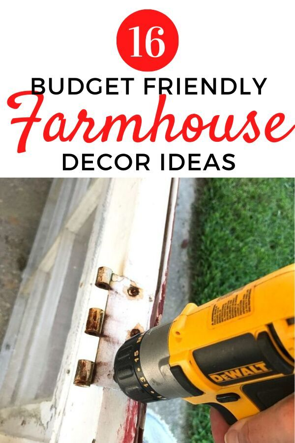 Decorate on a budget with these cheap and easy DIY farmhouse decor ideas. There are DIY home decor ideas for your bedroom, bathroom, kitchen, living room or entryway. #hometalk