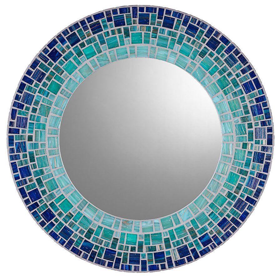 Custom Wall Mirror - Round Mosaic Mirror by opusmosaics on Etsy https://www.etsy.com/listing/159671436/custom-wall-mirror-round-mosaic-mirror