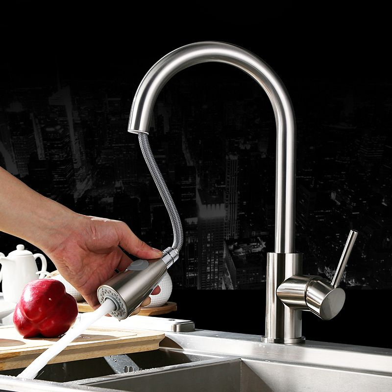 Free Shipping Pull Out Spray Head Kitchen Faucet Mixer Tap Swivel ...