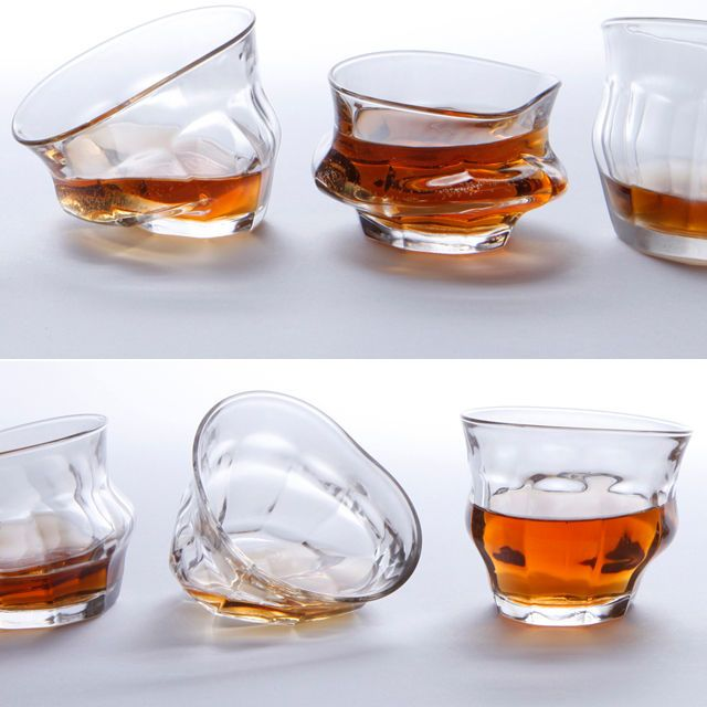 Distorted Drinking Ware Glass Whiskey Glasses Glasses Drinking