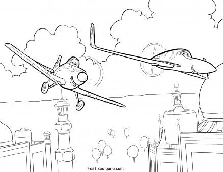 Printable Planes Rochelle And Dusty Coloring Page Printable