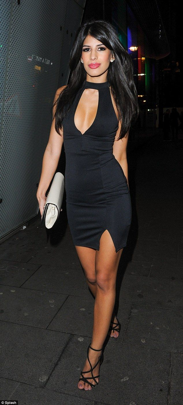 Revealing Little Black Cocktail Dress