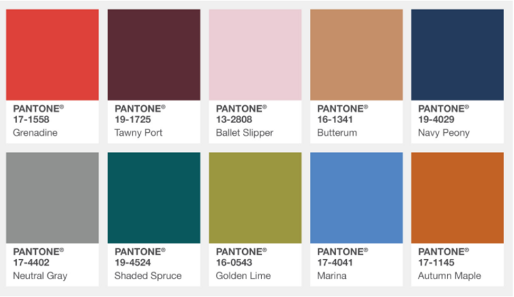 Aw17 70 S Inspiration Fall Fashion Colors Pantone Fall Pantone Fall 2017