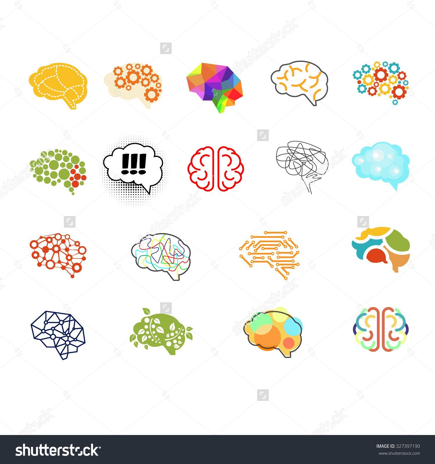 Set Of Brain Vector Illustration Sign Set 327397190