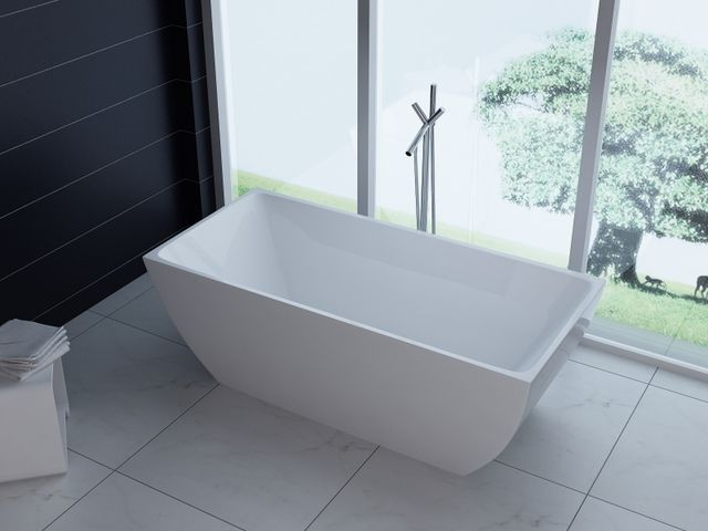 Vasca Da Bagno Freestanding Offerta : Vasca da bagno rettangolare o freestanding stile
