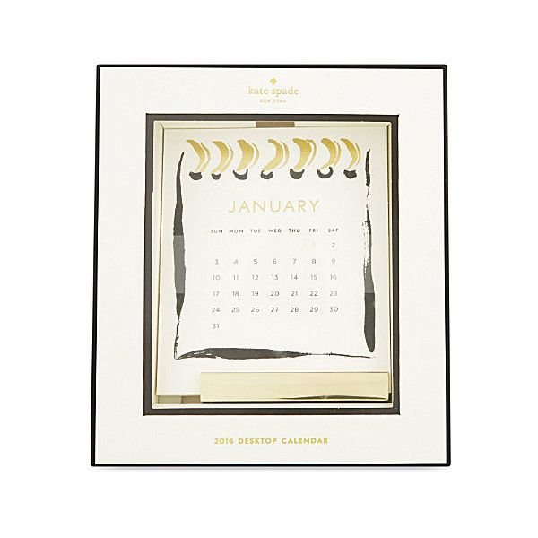 KATE SPADE NEW YORK 2016 Desktop Calendar ($34) ❤ Liked On Polyvore  Featuring Home