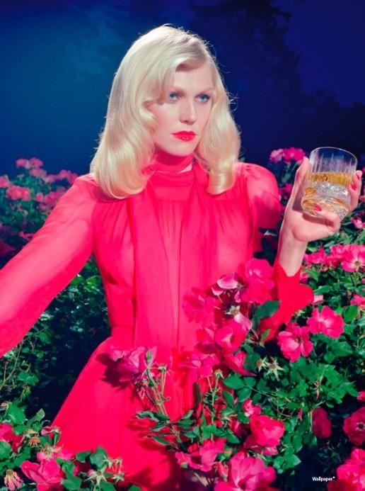 Shirley Mallman by Miles Aldridge for Wallpaper