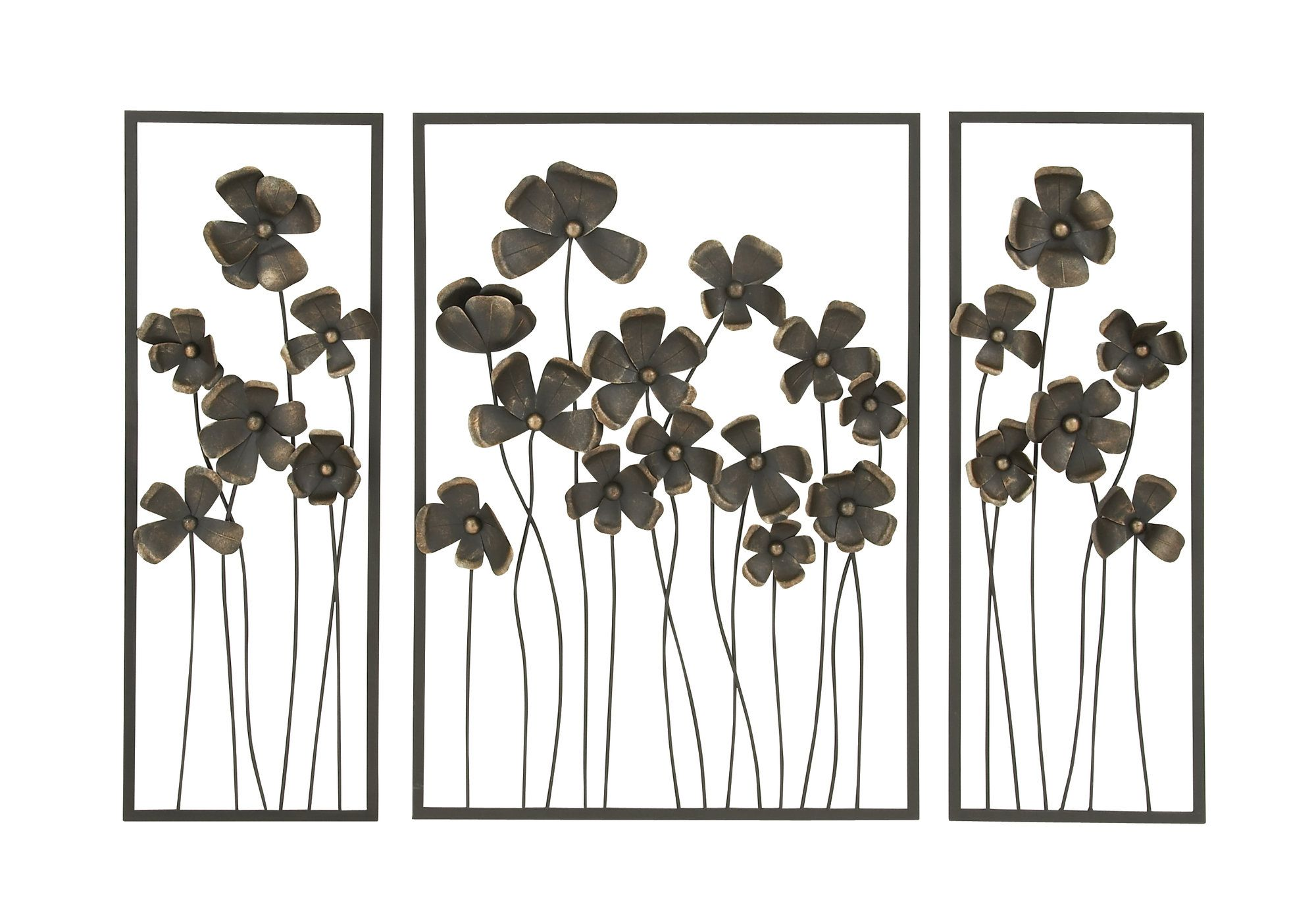 piece metal outdoor wall decor set products pinterest