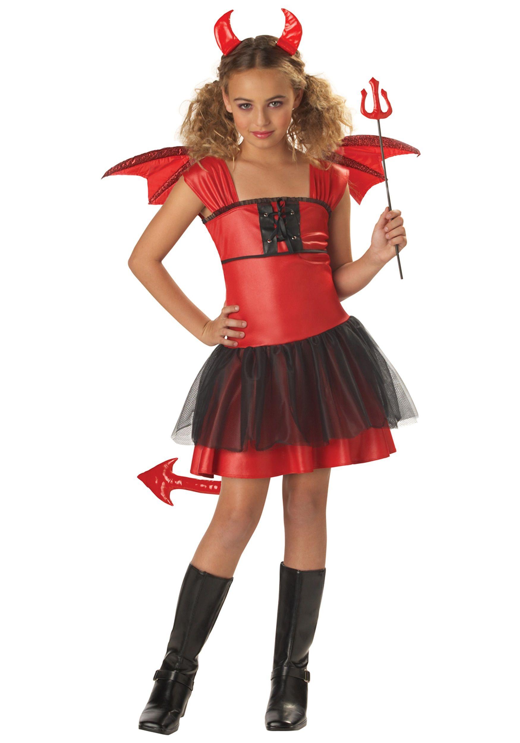 girls darling devil costume - Kids Angel Halloween Costume