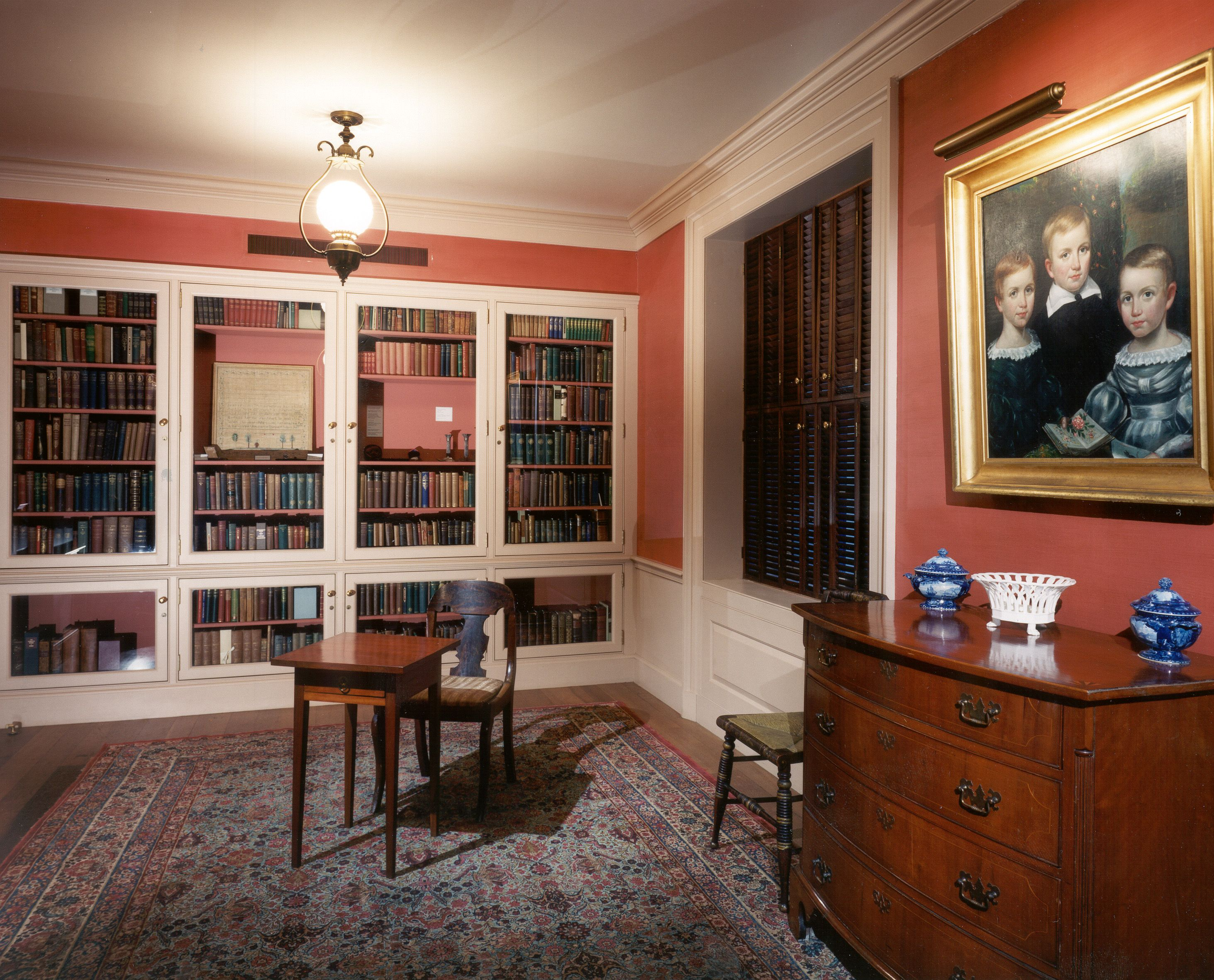 Dickinson Room at Houghton Library, Harvard University. This room includes furniture owned by the Dickinson family, including the writing