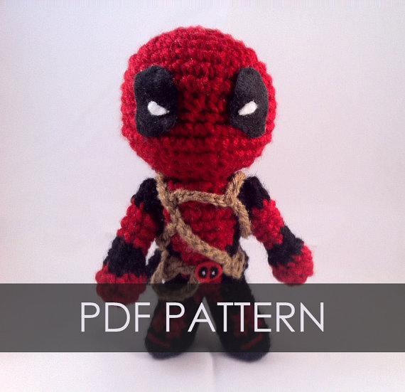 PDF CROCHET PATTERN Deadpool Inspired Chibi Amigurumi | Patrones ...