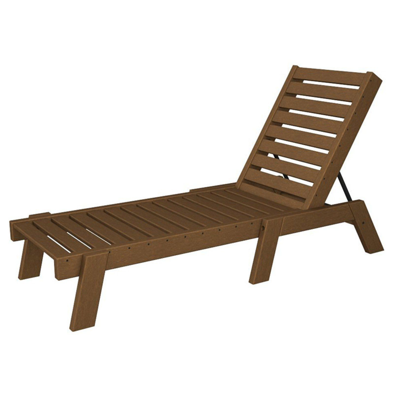 - Outdoor POLYWOOD® Captain Armless Recycled Plastic Chaise Lounge