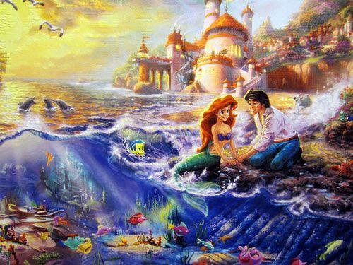 Thomas Kinkade Disney Paintings Frozen