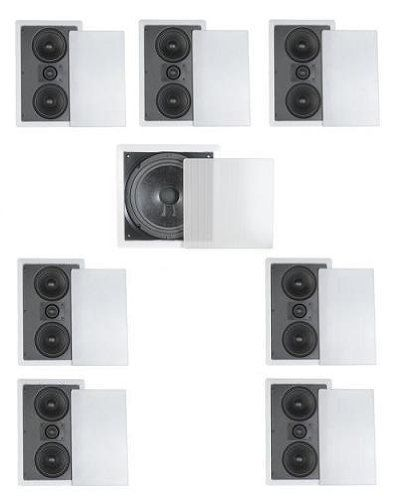 71 Home Theater Flush Inwall Speaker Package Seven Inwall Dual 525 2way Lcr Speakers And One 10 Inwall Subwoofer Inwall Speakers Kid Room Decor Home Theater