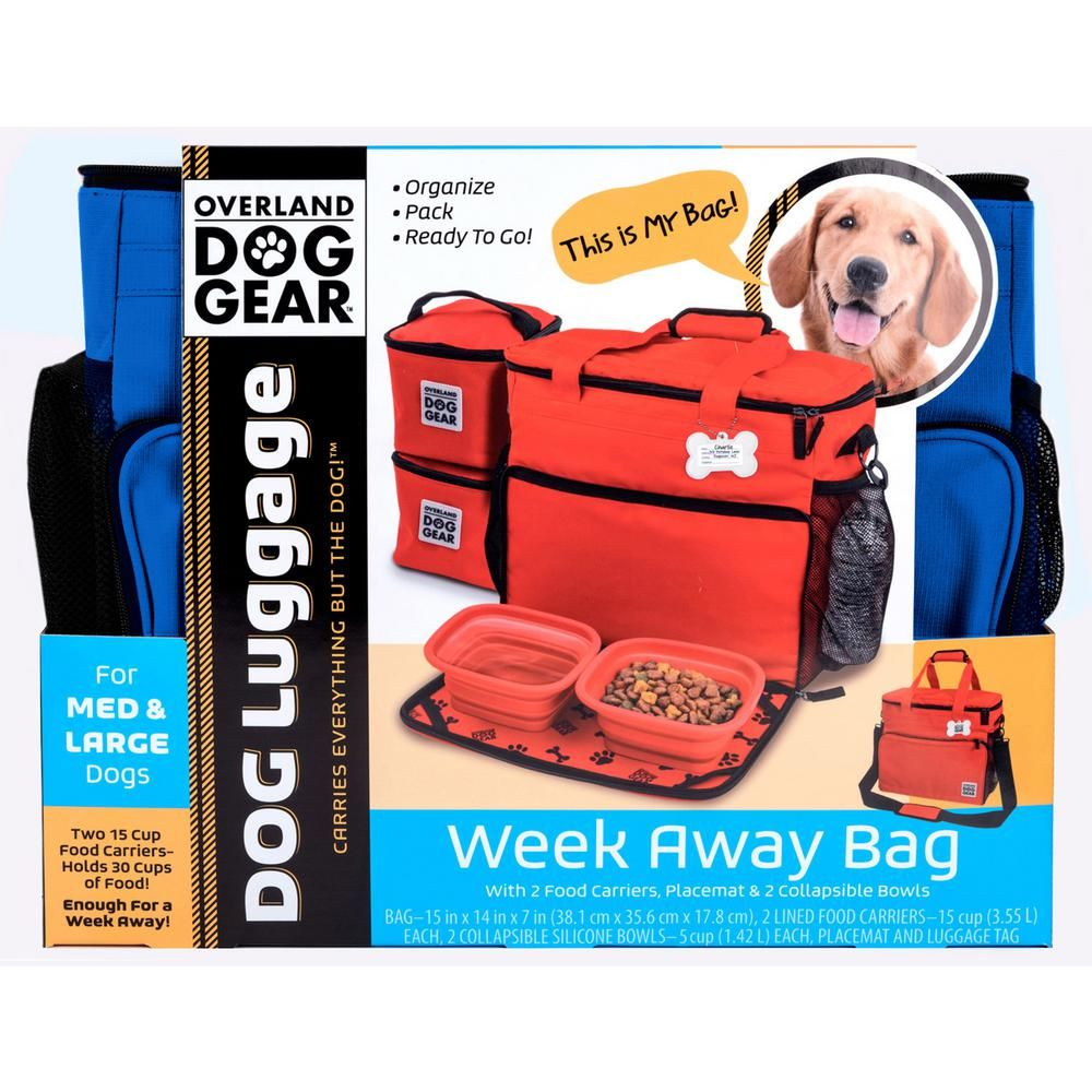 Overland Dog Gear Week Away Travel Bag For Dog Accessory M L Dogs