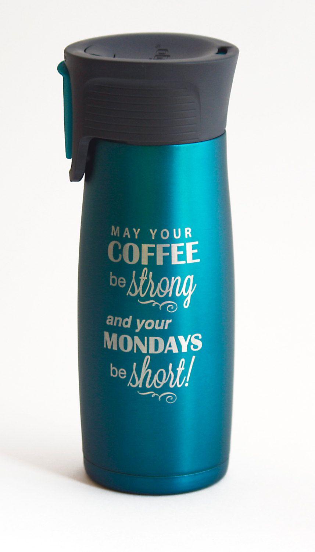 2179758f831 Personalized Travel Coffee Mug - Contigo Travel Coffee Mug - 16 oz Personalized  Mug - Insulated Travel Mug