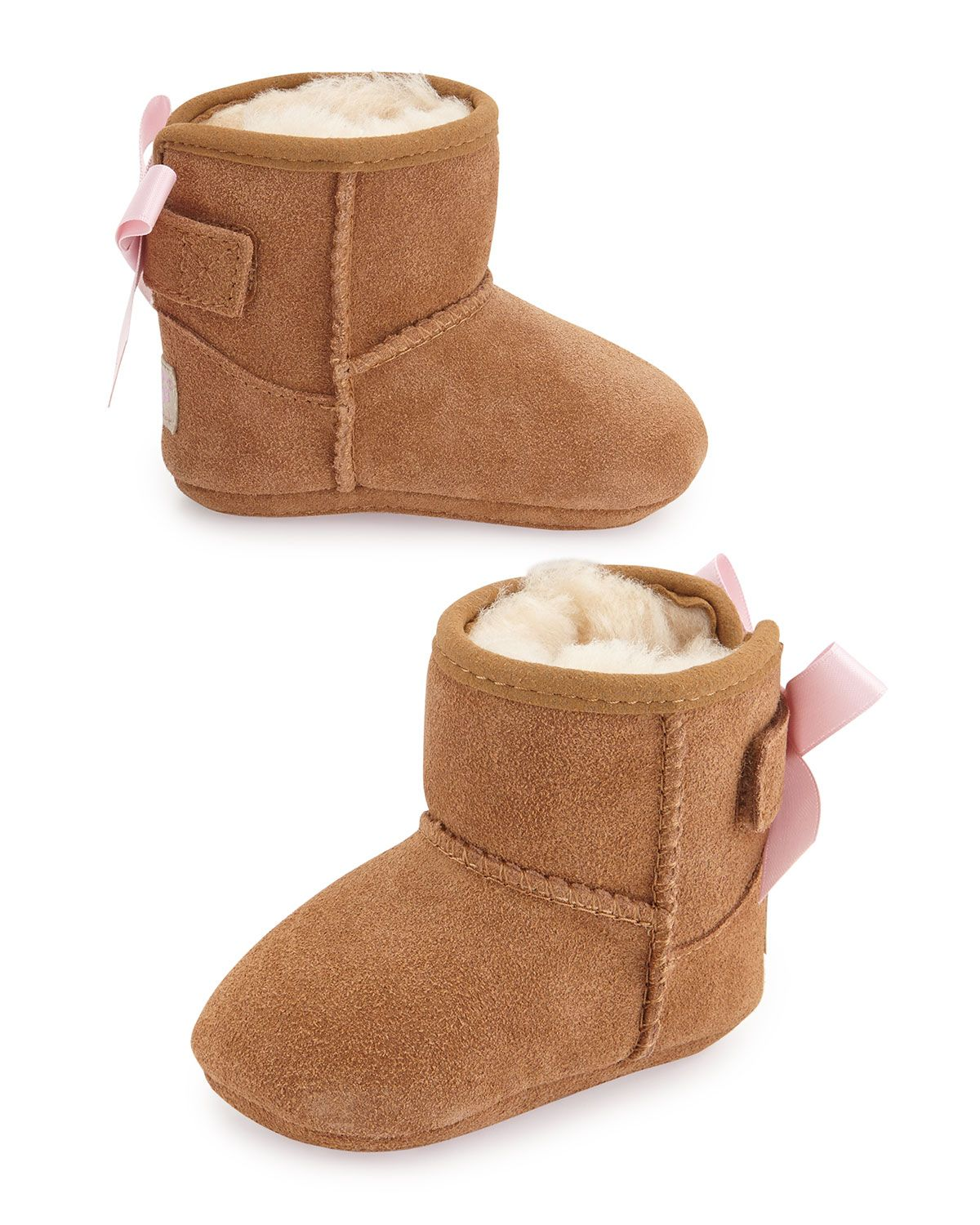 54b8eef0179 Jesse Suede Boots w/ Bow Chestnut Babies' Sizes 0-18 Months | boots ...