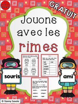 Jouons Avec Les Rimes Phonics