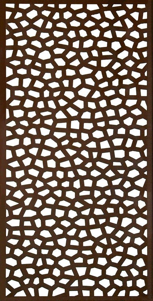 Panneaux Decoratif 1x2m Mosaic Rouille Panneau Treillis