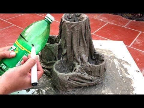 DIY   BEAUTIFUL AND EASY  The idea of making a cement pots growing Cactus  Beautiful home  DIY  BEAUTIFUL AND EASY  The idea of making a cement pots growing Cactus  Beaut...
