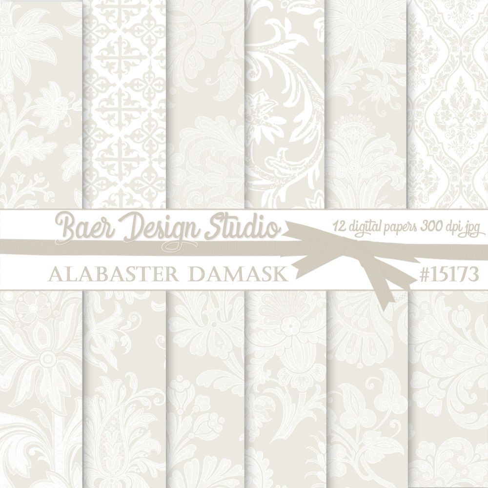 wedding digital paper white digital paper taupe digital paper