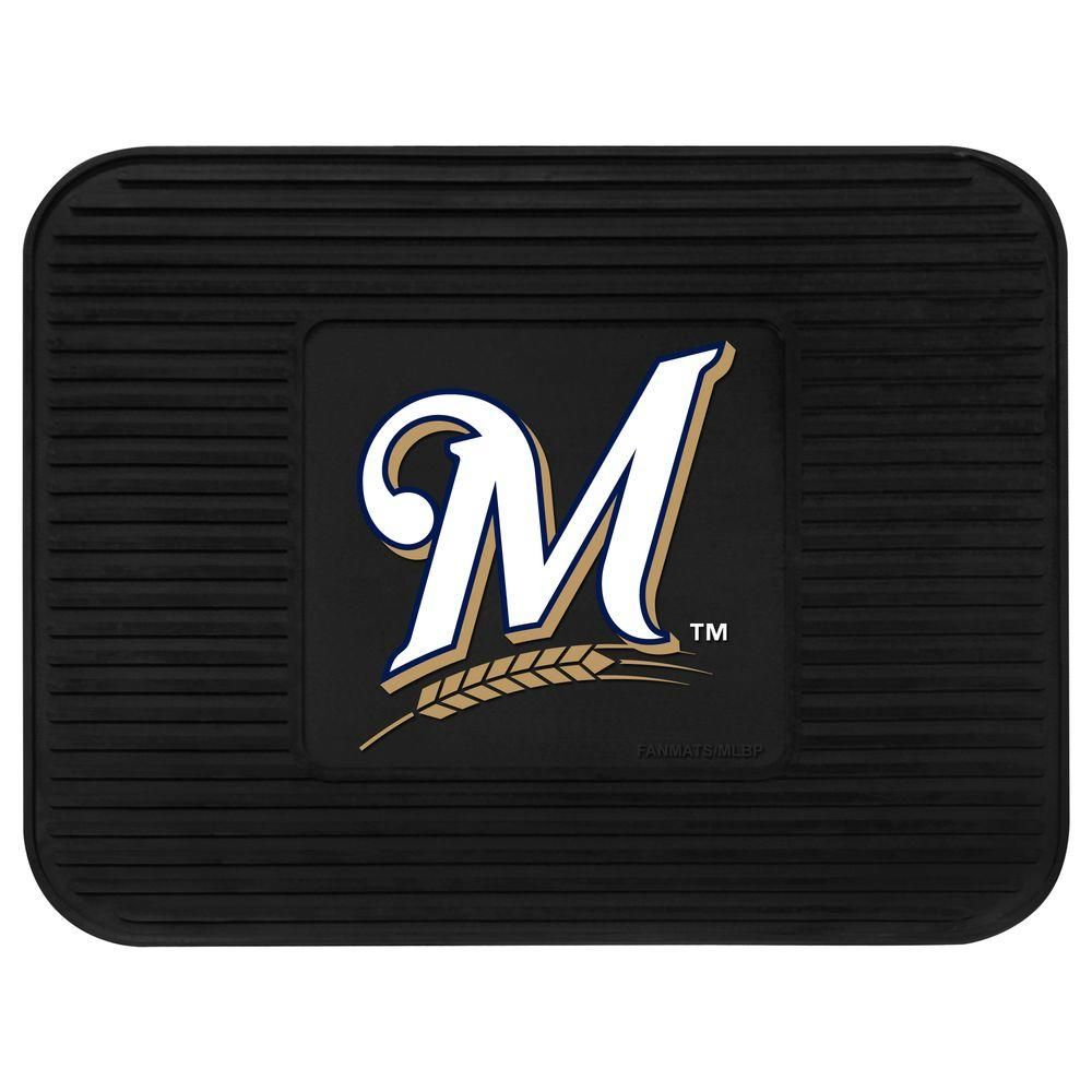 Fanmats Milwaukee Brewers 14 In X 17 In Utility Mat Black Milwaukee Brewers Mlb Team Logos Brewer Logo