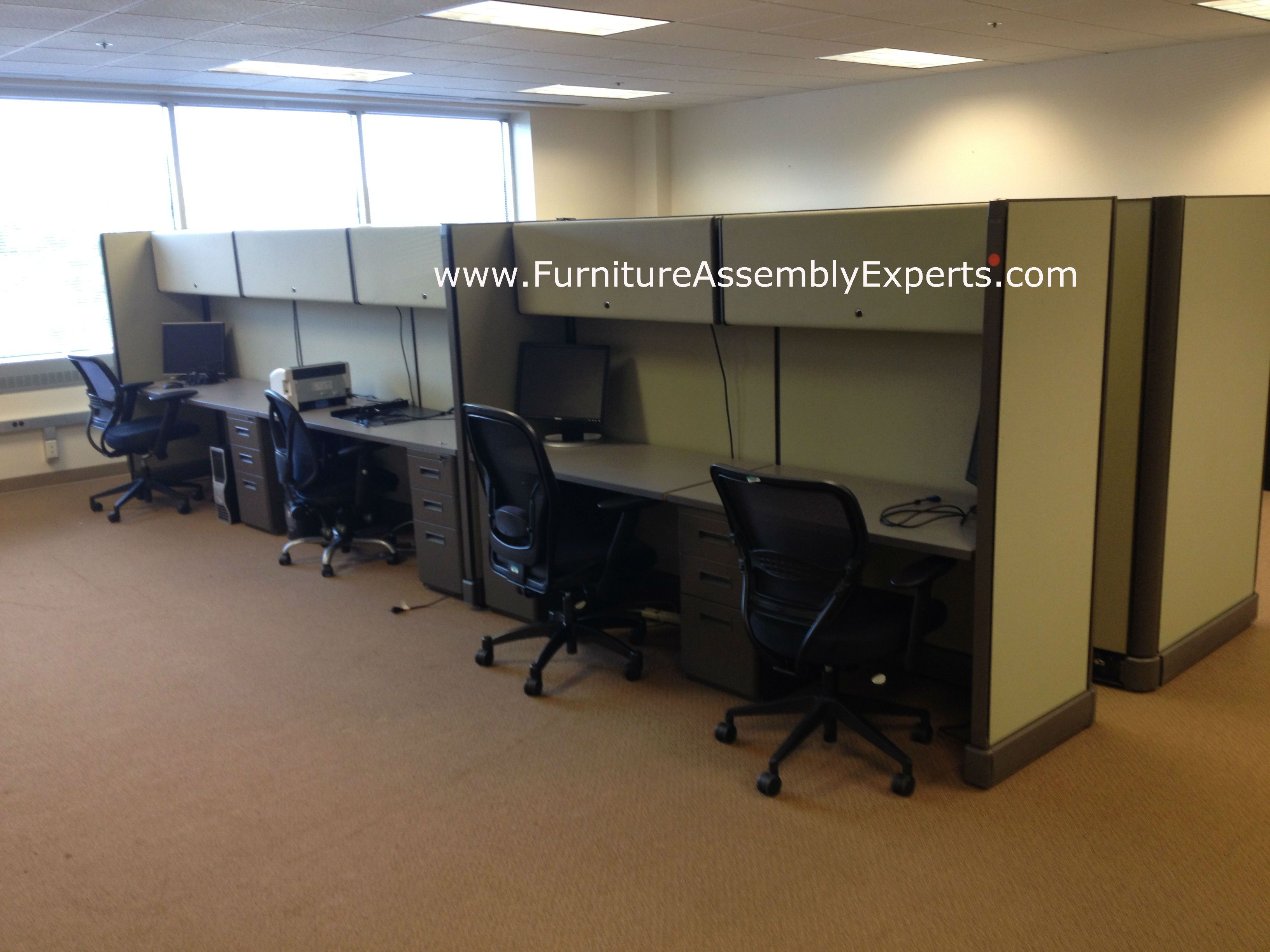 Used Office Cubicles Installed In Washington DC By Furniture Assembly  Experts LLC