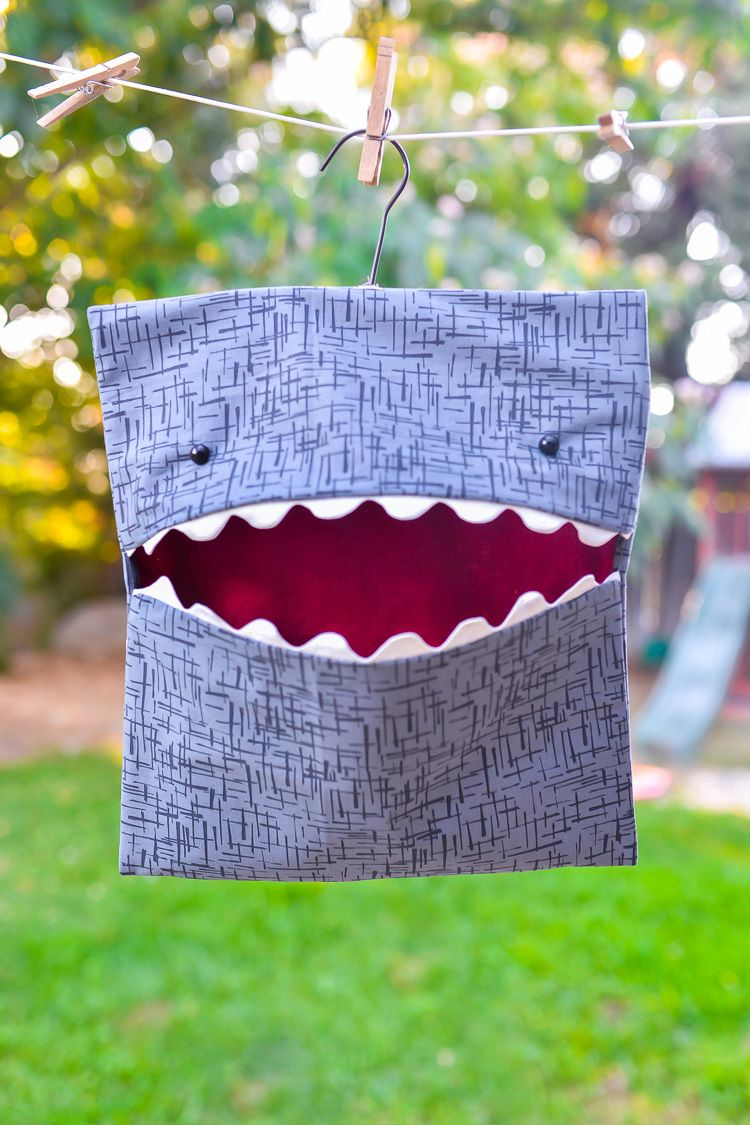 Easy-Sew Shark Clothespin Holder | A Florida garden | Sewing