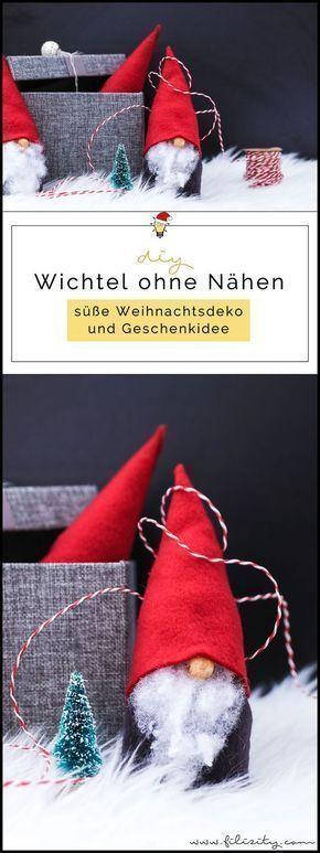 wichtel basteln ohne nhen se weihnachtsdeko und geschenkidee filizitycom diy blog aus dem rheinland - Diy Weihnachtsdeko Blog
