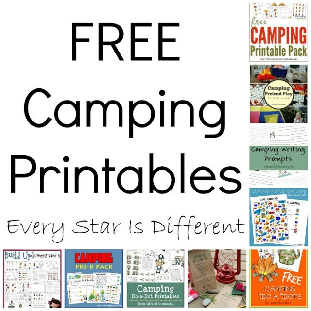 Free Camping Printables For Children Ages 3 8 Camping Printables Free Camping Printables Camping Theme Classroom