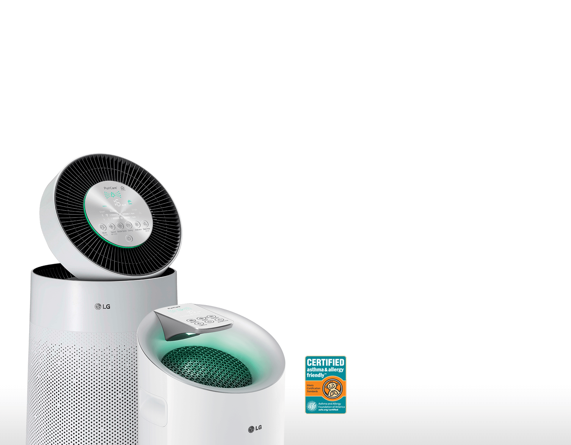 The LG PuriCare™ Dehumidifier gives you cleaner, more