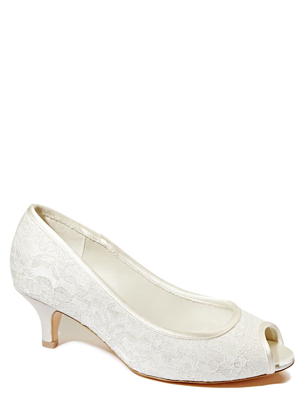 Photo 1 Of Ivory Wedding Collection Wide Fit Lace Peep Toe Court Shoes